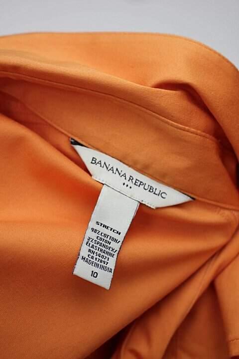 Camisa laranja banana republic_foto de detalhe