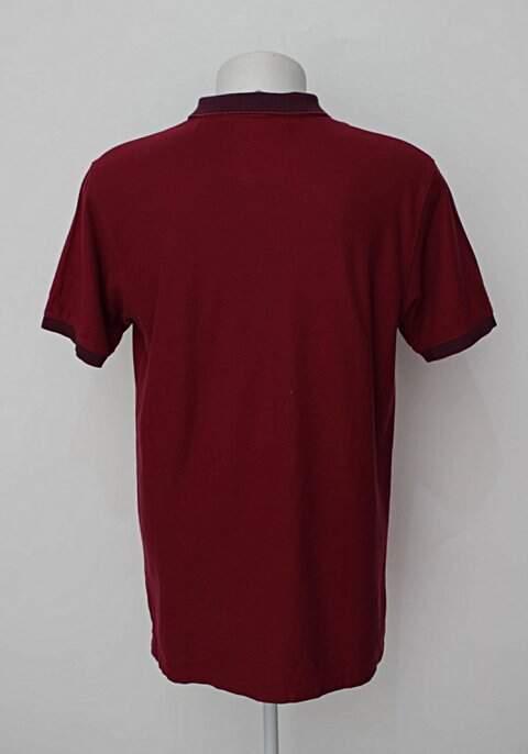 Camisa Polo vinho enrico rossi_foto de costas