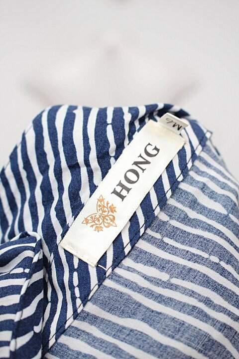 Camisa listrada hong_foto de detalhe