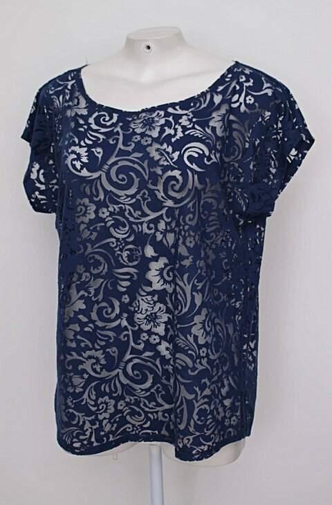 Blusa azul com Transparência_foto de costas