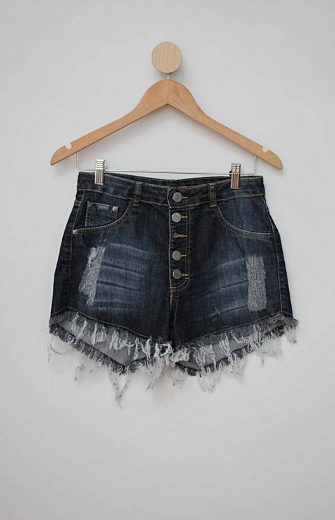 Shorts jeans azul destroyed_foto principal