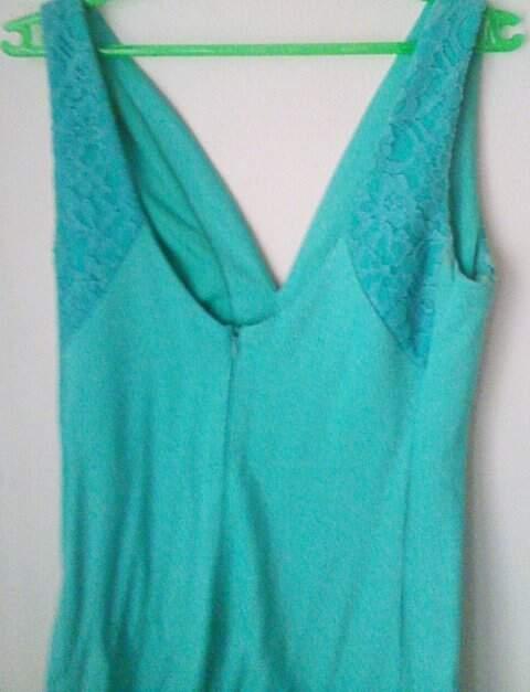 Vestido Com Renda Azul Shop 126_