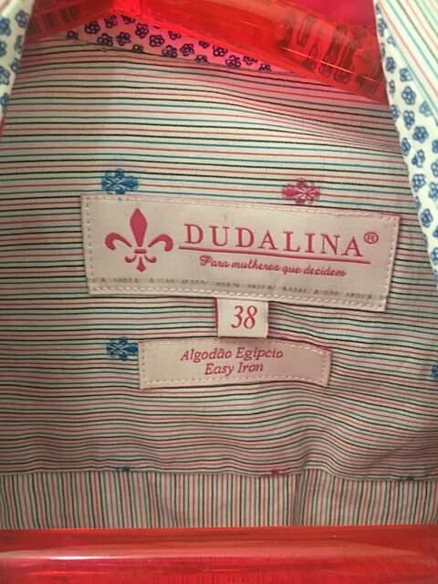 Camisa Dudalina Poá _foto de frente