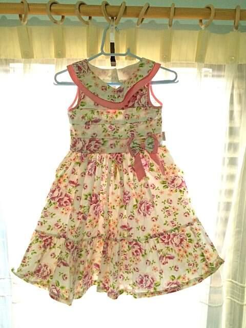 Vestido Floral Infantil_foto de frente