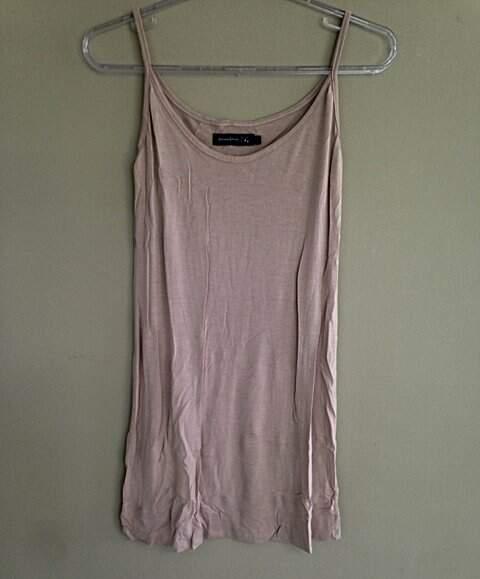 Vestido Camiseta Juliana Jabour Bege - TAM 44_foto de costas