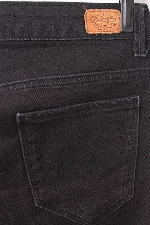 Jeans Preto Zara Destroyed_foto da etiqueta