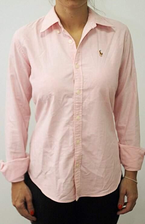 Camisa Ralph Lauren Rosa _foto de frente