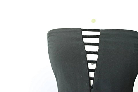 Vestido Preto com Fenda Viva Vida_foto de costas