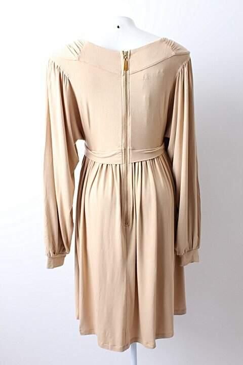 Vestido Juliana Jabour Bege - TAM 38_foto de costas
