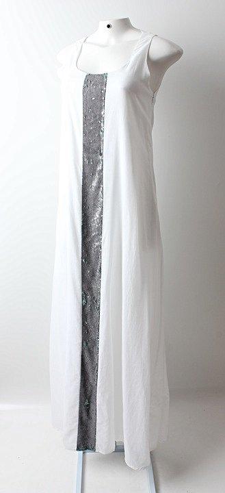 Vestido Auá Longo Branco - TAM 42_foto de frente